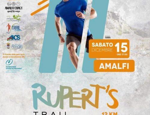 Sport e solidarietà: ad Amalfi sabato 15 la quarta edizione del Rupert's Trail