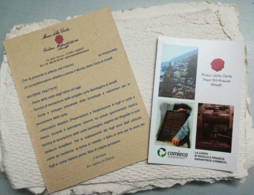 ICS L. Porzio Positano/Praiano: La visita dei ragazzi di quarta al Museo della Carta di Amalfi