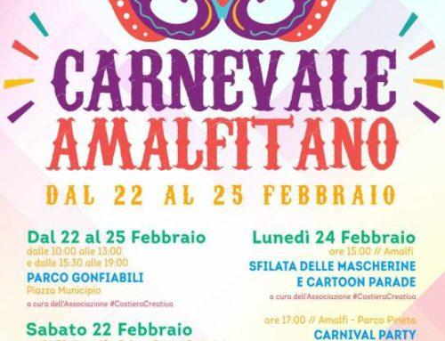 Amalfi. Dal 22 al 25 febbraio gli appuntamenti per il Carnevale a misura di bambino