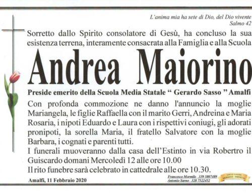 """Amalfi in lutto per Andrea Maiorino, preside della scuola media """"Sasso"""""""