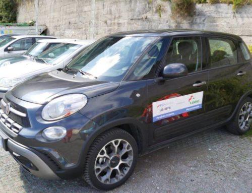 Una Fiat 500L Cross alla Pubblica Assistenza Millenium Amalfi per la consegna di beni di prima necessità