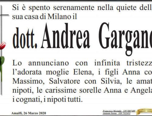 Amalfi piange la scomparsa del Dott. Andrea Gargano, spentosi a Milano
