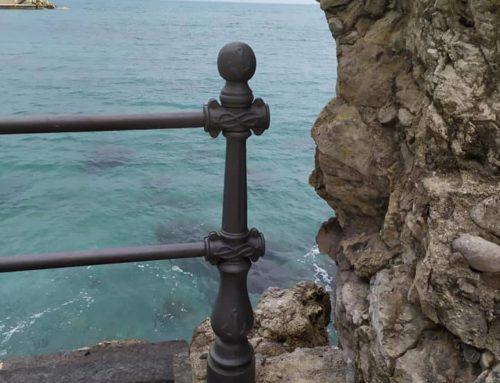 Amalfi, lavori alla Marinella: la segnalazione di pericolo per i bambini