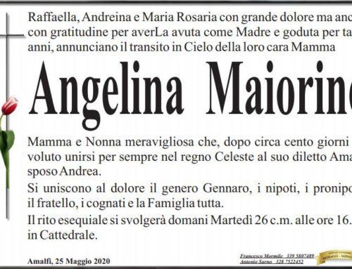 Amalfi. Vola in cielo la sig.ra Angelina Maiorino, il cordoglio per la dott.ssa Maria Rosaria