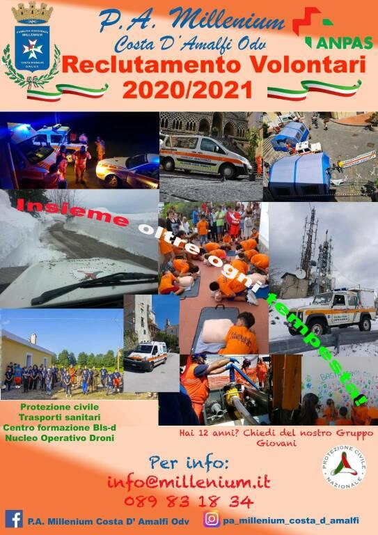 La P.A. Millenium Costa d'Amalfi in cerca di volontari per il prossimo anno