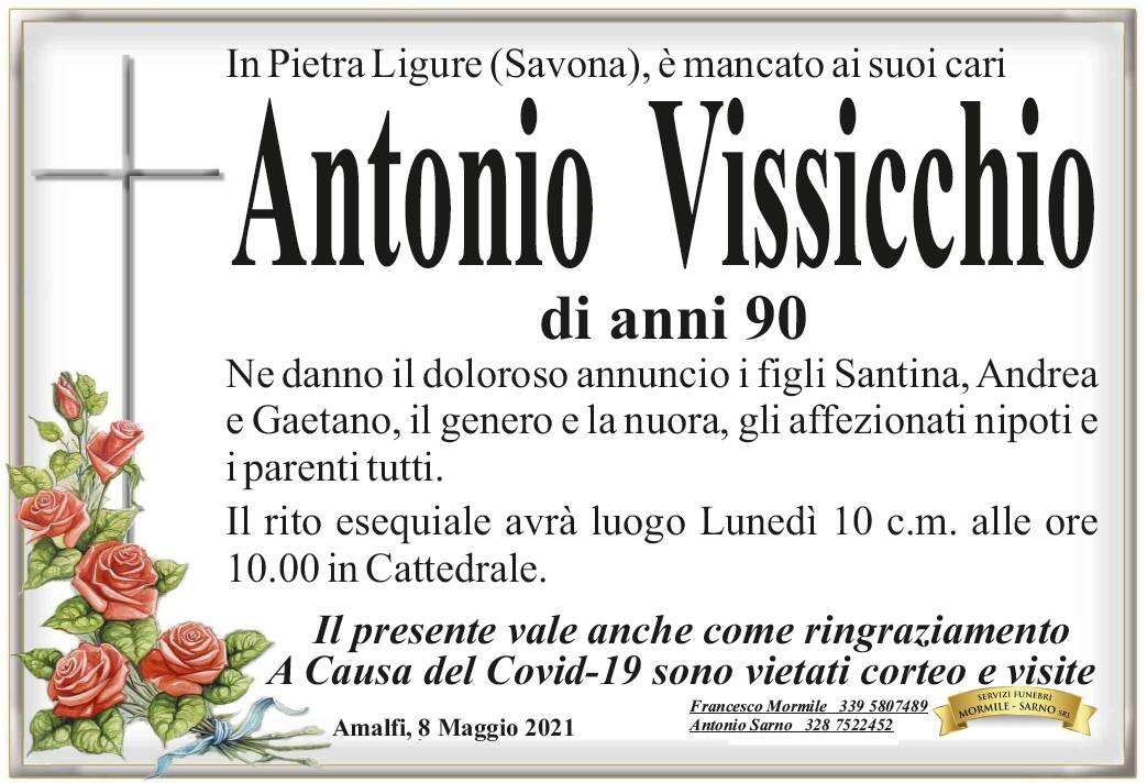 Amalfi piange Antonio Vissicchio, scomparso all'età di 90 anni