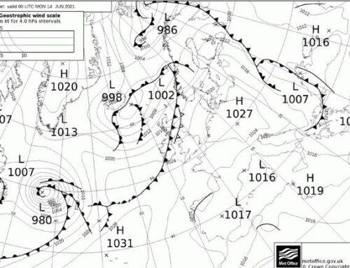 """Piano di Sorrento il meteo del Nautico """"N.Bixio"""" per Positanonews: temperature nei limiti del periodo"""
