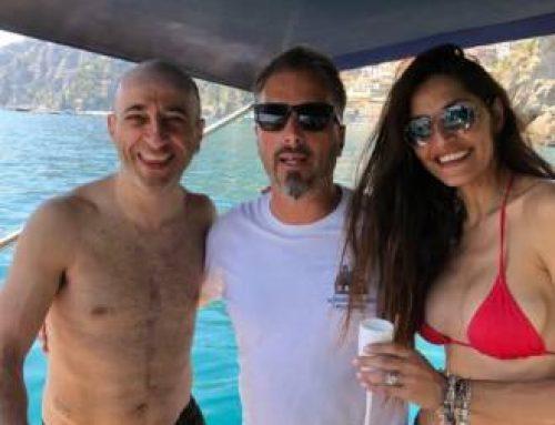"""Raffaele Ferrante de """"I Ditelo Voi"""" e la modella Laura Trezza in Costiera Amalfitana"""